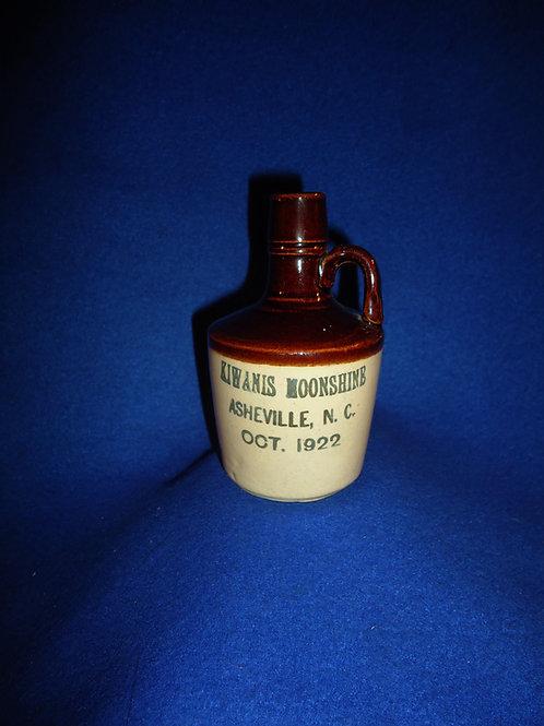 Kiwanis Moonshine, Ashville, N.C. 1922 Stoneware Mini Jug #5443