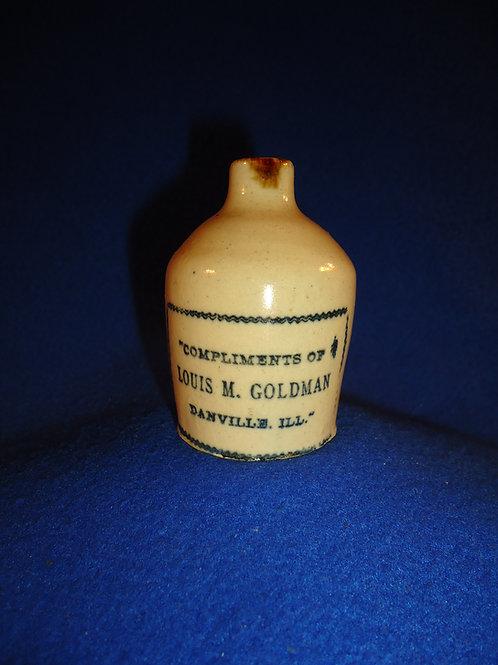 Louis M. Goldman, Danville, Illinois Stoneware Mini Jug