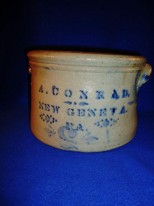 A. Conrad, New Geneva, Pennsylvania 2 Gallon Stoneware Butter Crock