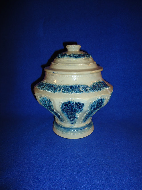 Whites Pottery of Utica, N.Y. Stoneware Lidded Condiment Jar