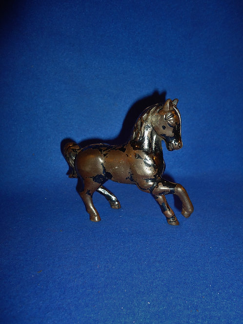 "Cast Iron Still Bank, ""Prancing Horse"" in Black Paint #5458"