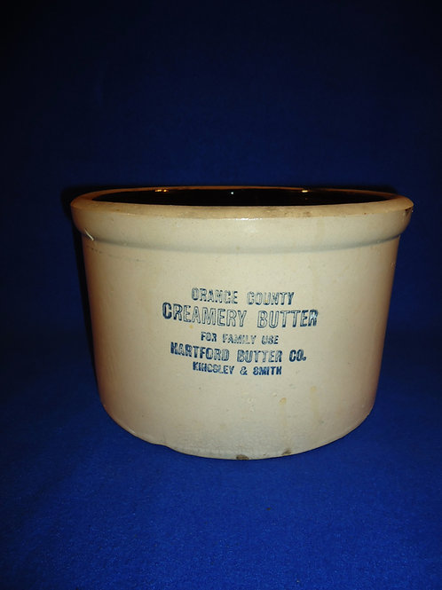 Orange County, New York Creamery Butter Stoneware Crock #5262