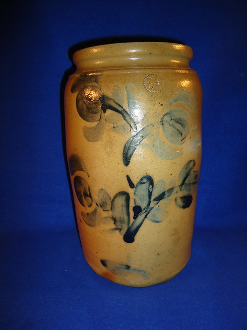 1 1/2 Gallon Stoneware Jar with Tulips from Southwestern Pennsylvania