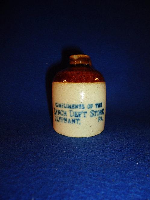 Lynch Department Store, Olyphant, Pennsylvania Stoneware Mini Jug