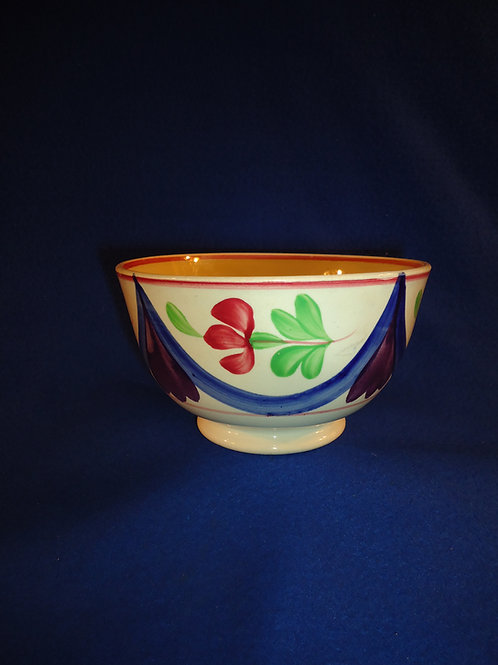 Late 19th Century Staffordshire Cut Sponge Bowl, Adams Rose Pattern
