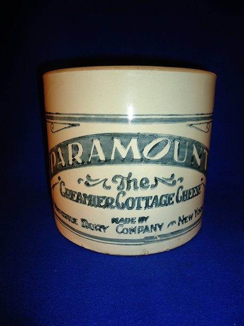 Paramount Cottage Cheese, Rosedale Dairy, New York Stoneware Crock