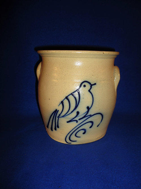 Jerry Beaumont Stoneware Cream Pot with Bird on Branch #5153