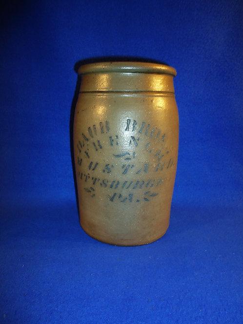 Daub Bros., French Mustard, Pittsburgh, Pennsylvania Stoneware Jar #5756