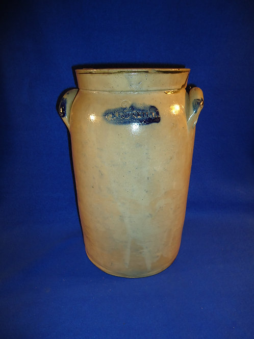 C. J. Merrill, Ohio Stoneware 2 Gallon Stoneware Churn