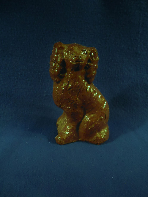 Ohio Sewer Tile Seated Spaniel by Gene Albaugh
