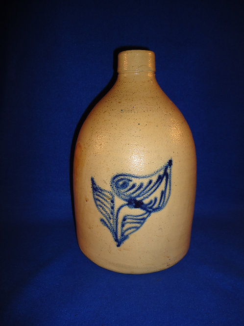 Whites of Utica Stoneware 3 Gallon Jug with Orchid