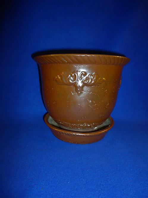 West Troy Pottery 3 Quart Flower Pot by William Warner, #4817