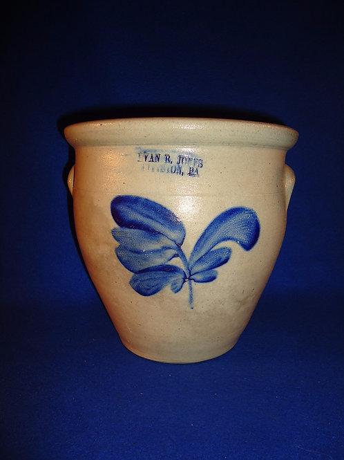 Evan Jones, Pittston, Pennsylvania Stoneware 1g Cream Pot with Tulip