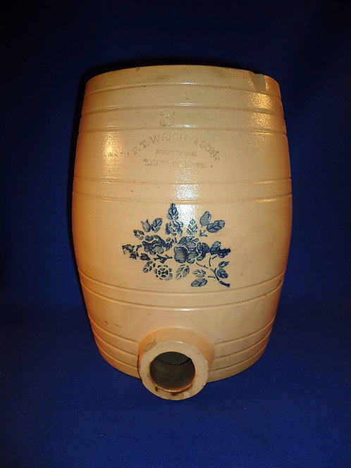 F. T. Wright, Taunton, Massachusetts Stoneware 3g Water Cooler with Roses