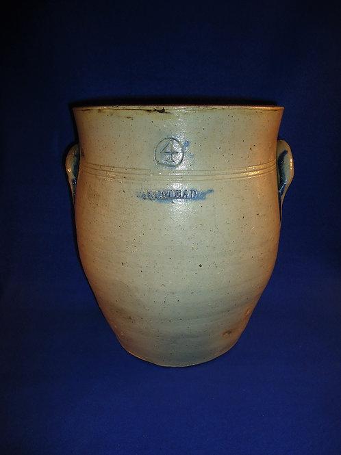 T. P. Mead, Portage County, Ohio Stoneware 4 Gallon Ovoid Jar  #4451