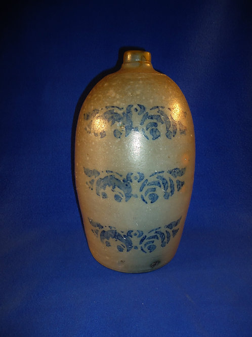 Circa 1880 Stoneware Jug with Florals from Southwestern Pennsylvania