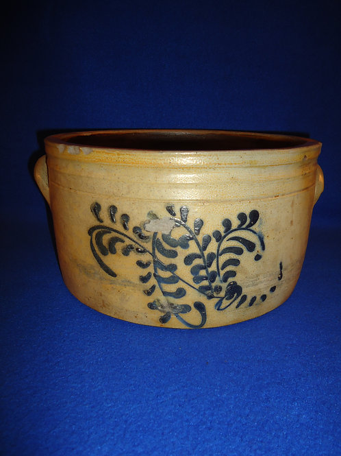 Circa 1860 Decorated Cake Crock from New Jersey #4467