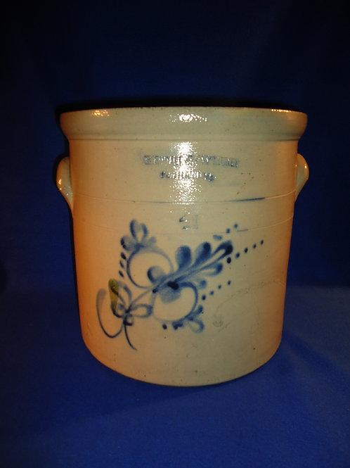 Kendall & Whitney, Portland, Maine Stoneware 4 Gallon Crock