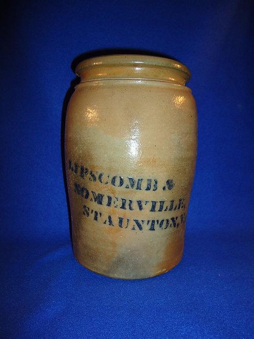 Lipscomb & Somerville, Staunton, Virginia Stoneware Jar, att. Donaghho
