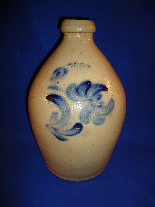 "2 Gallon Jug with Chrysanthemum marked ""Lyons"", att. Thompson Harrington #4615"
