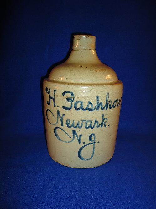H. Pashkow, Newark, New Jersey Stoneware 1 Gallon Jug with Cobalt Script