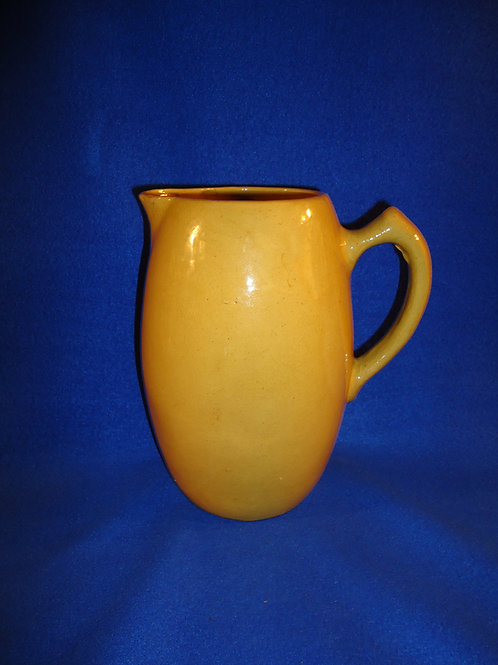 Uncommon Yellow Ware Pitcher in Pumpkin Coloration #5317