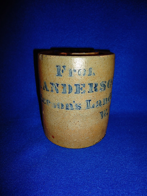 A. Anderson, Anderson's Landing, West Virginia Stoneware Wax Sealer