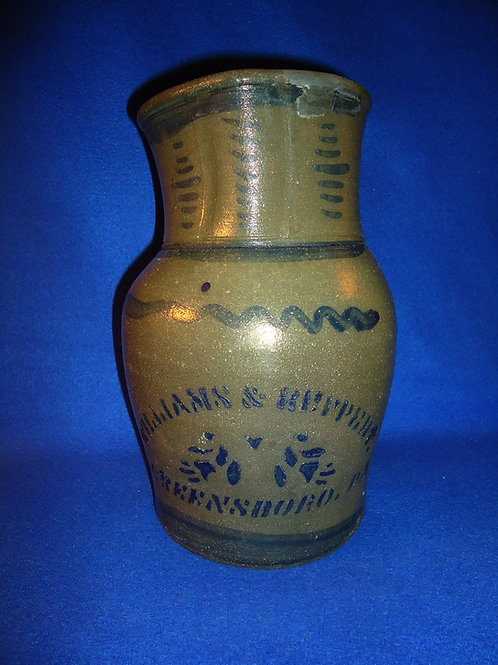 Williams and Reppert, Greensboro, PA Stoneware 1 Gallon Pitcher