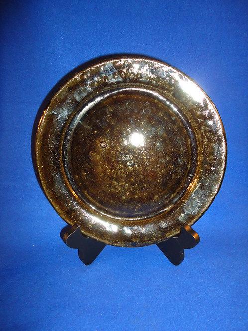 "Lanier Meaders, Mossy Creek, Georgia Stoneware 9 1/4"" Plate"
