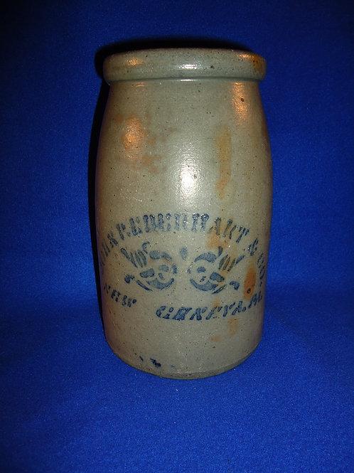 John Eberhart, New Geneva, Pennsylvania Stoneware Wax Sealer