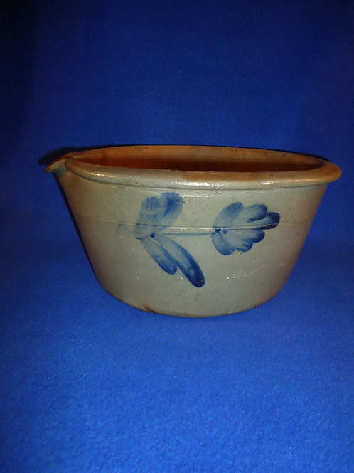 Ralph Grier, Chester County, Pennsylvania Stoneware Decorated Milk Bowl,#4720