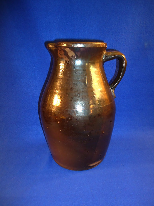 Mid 19th Century Redware 1 Gallon Pitcher