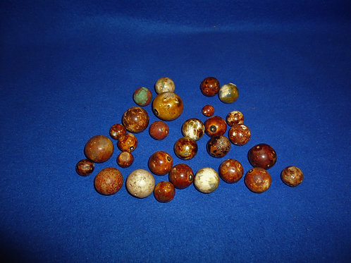29 19th Century Stoneware and Clay Marbles #5510