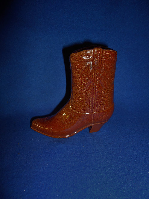 Early 20th Century Sewer Tile Cowboy Boot Vase #5796
