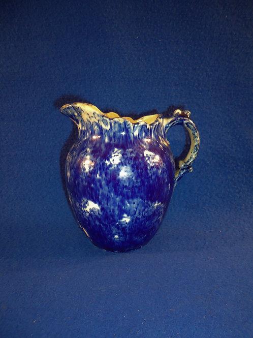 Blue and White Spongeware Stoneware Creamer