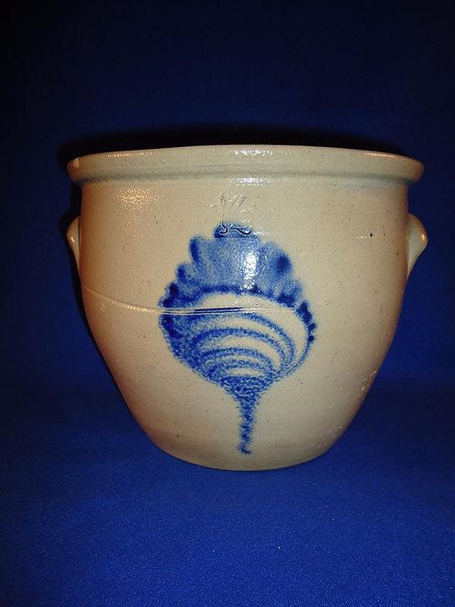 1 1/2 Gallon Cream Pot with Cornucopia, att. Ottman, Fort Edward, New York