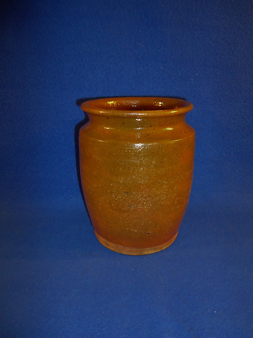 "19th Century Redware Jar stamped ""James Sellers"" #5282"