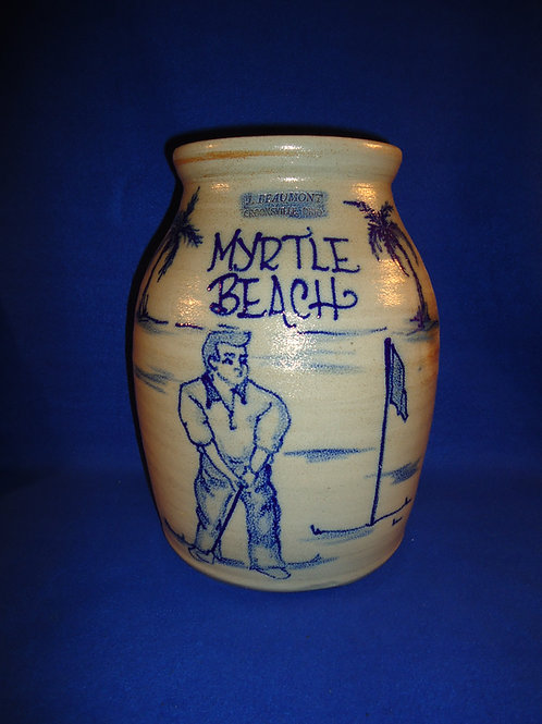 J. Beaumont, Crooksville, Ohio Stoneware Myrtle Beach Jar, #4694
