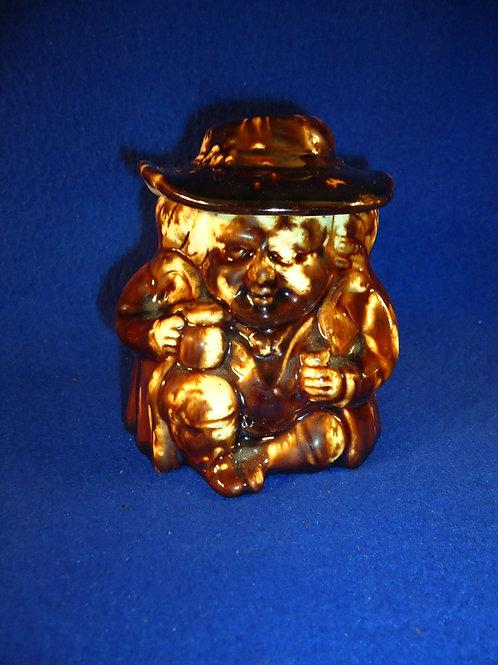Lyman Fenton, Bennington, Vermont Yellow Ware Toby Snuff Jar