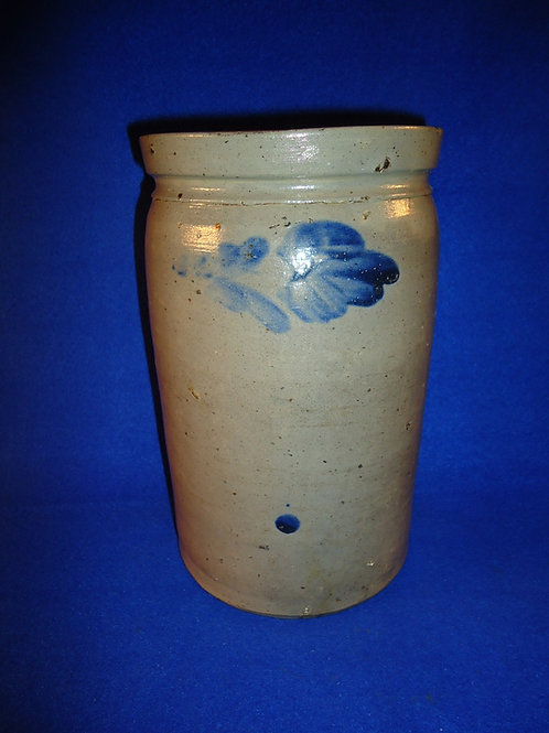 Circa 1870 1 Gallon Stoneware Jar with Tulips from Baltimore, Maryland