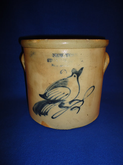 New York Stoneware Company Crock with Bird on a Branch #5608