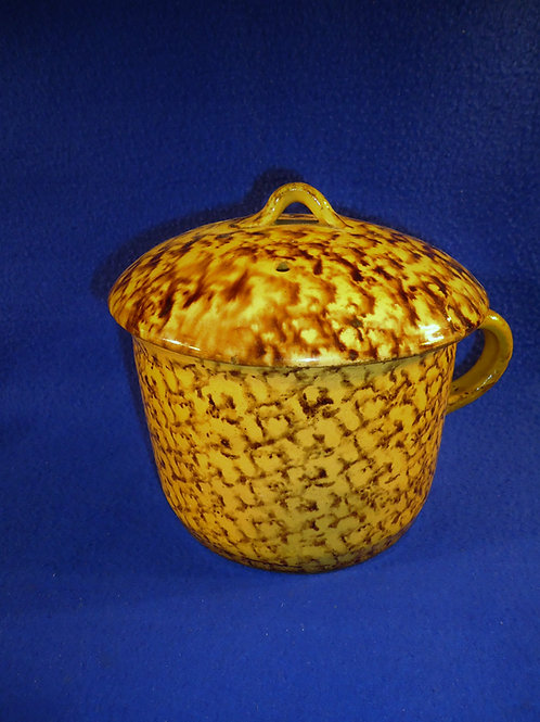 19th CenturyYellow Ware Confit Pot with Lid