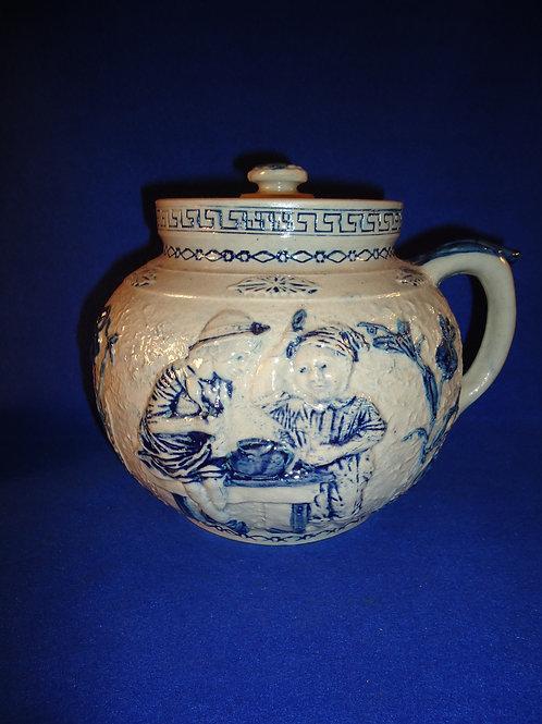 Boston Baked Bean Lidded Stoneware Pot by Whites Pottery of Utica, New York