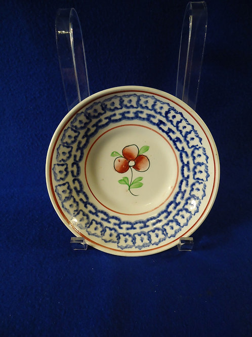 Design Spatterware Saucer in the Dogwood (Primrose) Pattern