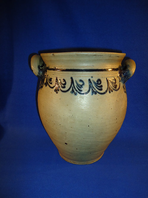 Late 18th Century Ovoid Jar, att. Capt. James Morgan, Cheesequake, N.J. #4645