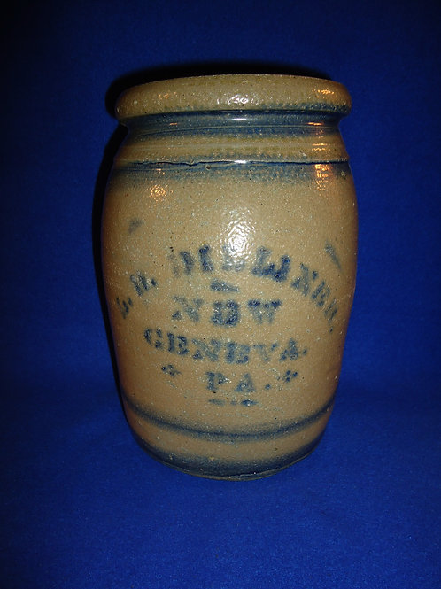 L. B. Dilliner, New Geneva, Pennsylvania Stoneware 1 Gallon Jar