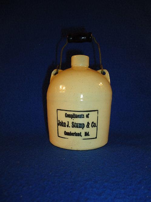 John Stump, Cumberland, Maryland Stoneware Mini Jug with Bail Handle