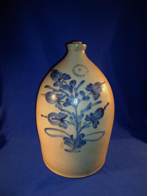 N. Clark, Jr., Athens, New York Stoneware 5 Gallon Jug with 5 Tulips