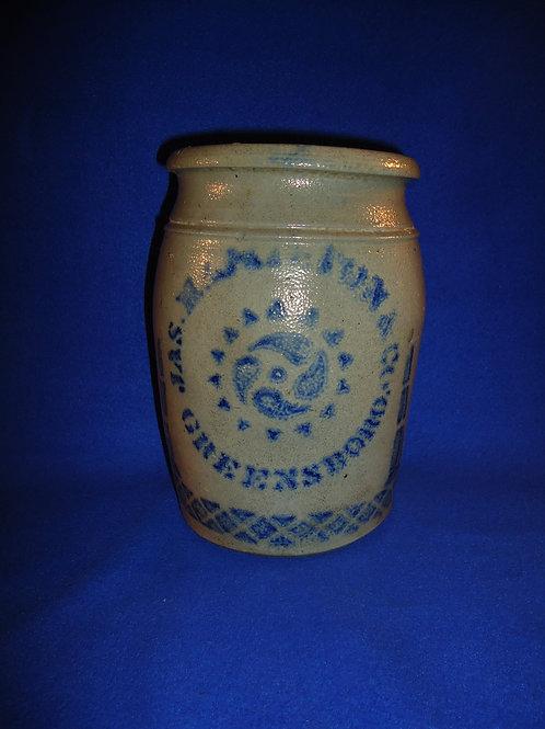 James Hamilton, Greensboro, Pennsylvania 1 Gallon Jar with Pinwheel