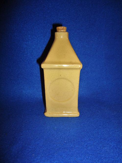 Yellow Ware Bottle, Rectangular Shape, #4657